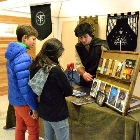 En exposición estaban varias de las obras escritas por J.R.R. Tolkien